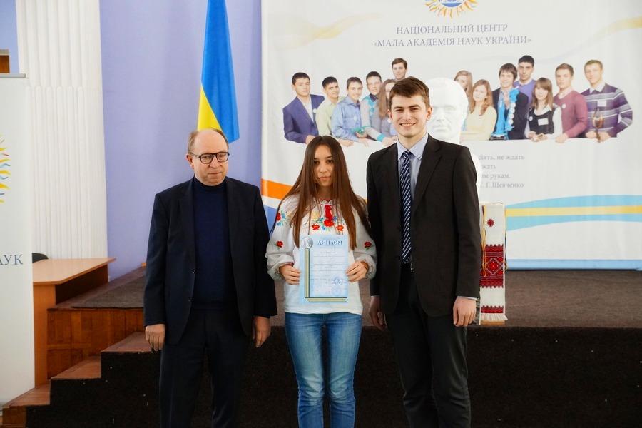Марія Кислова - срібний дипломант Всеукраїнського етапу конкурсу-захисту наукових робіт МАН